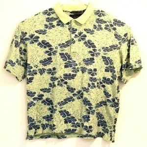 Greg Norman Floral Polo Shirt Sz XL